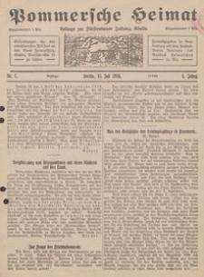 Pommersche Heimat. Beilage zur Fürstentumer Zeitung, Köslin Nr. 7/1916