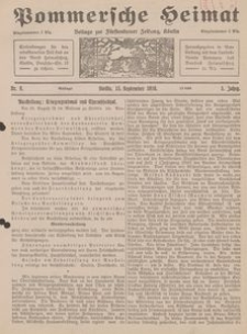 Pommersche Heimat. Beilage zur Fürstentumer Zeitung, Köslin Nr. 9/1916