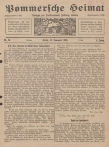 Pommersche Heimat. Beilage zur Fürstentumer Zeitung, Köslin Nr. 11/1916