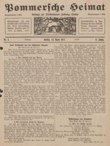 Pommersche Heimat. Beilage zur Fürstentumer Zeitung, Köslin Nr. 4/1917