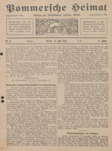 Pommersche Heimat. Beilage zur Fürstentumer Zeitung, Köslin Nr. 6/1917