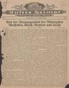 Unsere Heimat. Beilage zur Kösliner Zeitung Nr. 1/1935
