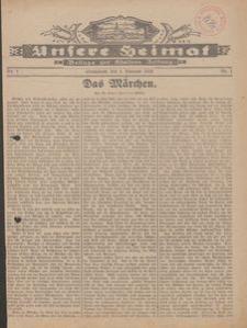 Unsere Heimat. Beilage zur Kösliner Zeitung Nr. 1/1930
