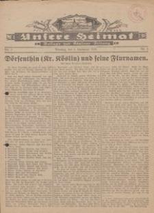 Unsere Heimat. Beilage zur Kösliner Zeitung Nr. 3/1930