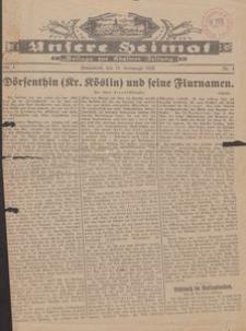 Unsere Heimat. Beilage zur Kösliner Zeitung Nr. 4/1930