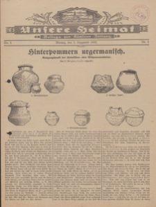 Unsere Heimat. Beilage zur Kösliner Zeitung Nr. 5/1930
