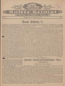 Unsere Heimat. Beilage zur Kösliner Zeitung Nr. 7/1930