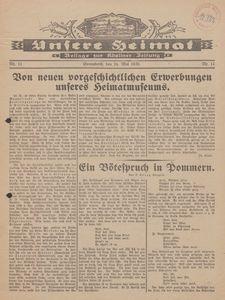Unsere Heimat. Beilage zur Kösliner Zeitung Nr. 11/1930