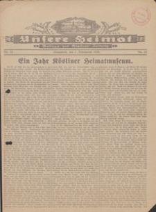Unsere Heimat. Beilage zur Kösliner Zeitung Nr. 22/1930