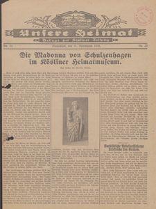 Unsere Heimat. Beilage zur Kösliner Zeitung Nr. 23/1930