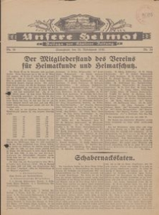 Unsere Heimat. Beilage zur Kösliner Zeitung Nr. 24/1930