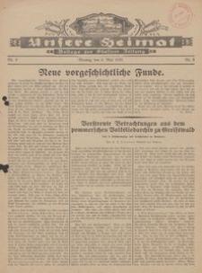 Unsere Heimat. Beilage zur Kösliner Zeitung Nr. 9/1929