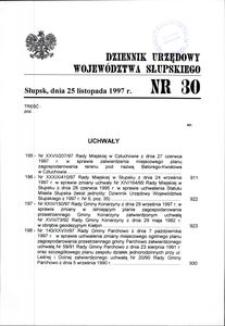 Dziennik Urzędowy Województwa Słupskiego. Nr 30/1997