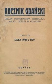 Rocznik Gdański, t. 2 i 3 (1928-1929)