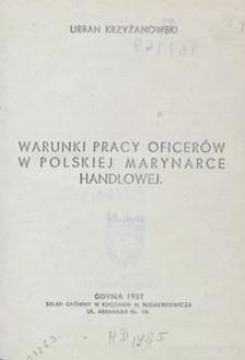 Warunki pracy oficerów w polskiej marynarce handlowej