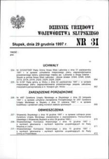 Dziennik Urzędowy Województwa Słupskiego. Nr 31/1997