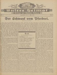 Unsere Heimat. Beilage zur Kösliner Zeitung Nr. 9/1931