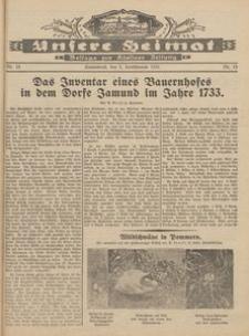 Unsere Heimat. Beilage zur Kösliner Zeitung Nr. 18/1931