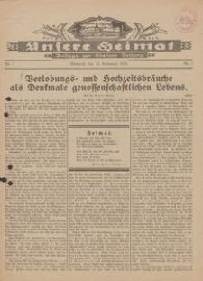 Unsere Heimat. Beilage zur Kösliner Zeitung Nr. 3/1929