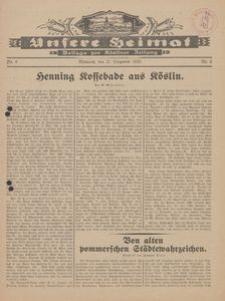 Unsere Heimat. Beilage zur Kösliner Zeitung Nr. 6/1929