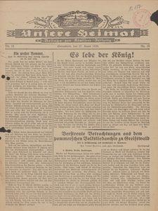 Unsere Heimat. Beilage zur Kösliner Zeitung Nr. 15/1929