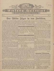 Unsere Heimat. Beilage zur Kösliner Zeitung Nr. 1/1928