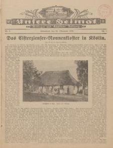 Unsere Heimat. Beilage zur Kösliner Zeitung Nr. 9/1928