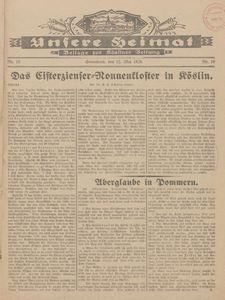 Unsere Heimat. Beilage zur Kösliner Zeitung Nr. 10/1928
