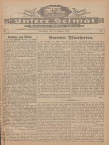 Unsere Heimat. Beilage zur Kösliner Zeitung Nr. 3/1926