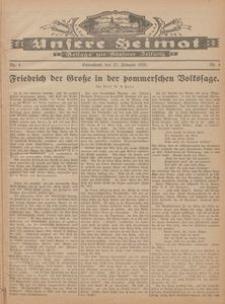 Unsere Heimat. Beilage zur Kösliner Zeitung Nr. 4/1926