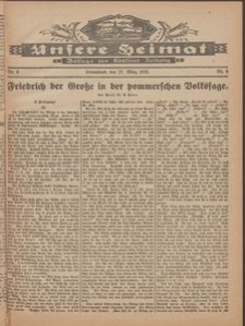 Unsere Heimat. Beilage zur Kösliner Zeitung Nr. 6/1926