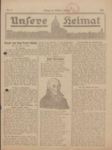 Unsere Heimat. Beilage zur Kösliner Zeitung Nr. 2/1924