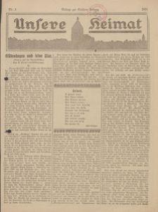 Unsere Heimat. Beilage zur Kösliner Zeitung Nr. 3/1924