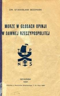Morze w głosach opinji w dawnej Rzeczypospolitej