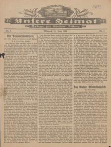Unsere Heimat. Beilage zur Kösliner Zeitung Nr. 8/1924
