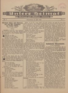 Unsere Heimat. Beilage zur Kösliner Zeitung Nr. 9/1924