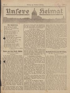 Unsere Heimat. Beilage zur Kösliner Zeitung Nr. 1/1923