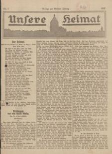Unsere Heimat. Beilage zur Kösliner Zeitung Nr. 5/1922