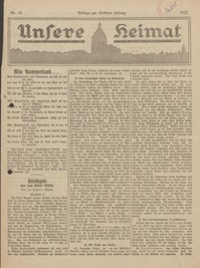 Unsere Heimat. Beilage zur Kösliner Zeitung Nr. 10/1922