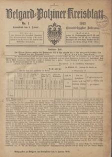 Belgard-Polziner Kreisblatt, 1913, Nr 1