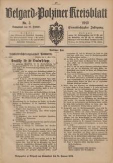 Belgard-Polziner Kreisblatt, 1913, Nr 5