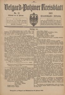 Belgard-Polziner Kreisblatt, 1913, Nr 12