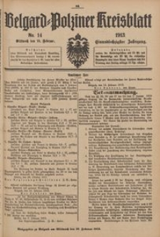 Belgard-Polziner Kreisblatt, 1913, Nr 14