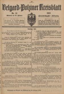 Belgard-Polziner Kreisblatt, 1913, Nr 16