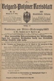 Belgard-Polziner Kreisblatt, 1913, Nr 22
