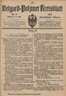 Belgard-Polziner Kreisblatt, 1913, Nr 27