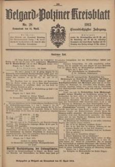 Belgard-Polziner Kreisblatt, 1913, Nr 28