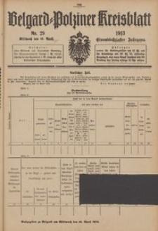 Belgard-Polziner Kreisblatt, 1913, Nr 29