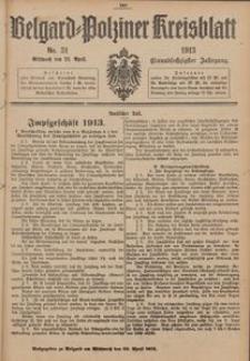 Belgard-Polziner Kreisblatt, 1913, Nr 31