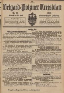 Belgard-Polziner Kreisblatt, 1913, Nr 33